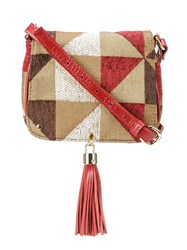 Xaa Pattern Crossbody Bag Brown