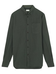 Jigsaw Dye Bound Edge Oxford Shirt Forest