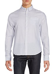 Joe's Jeans Relaxed Fit Cotton Sportshirt Blue White