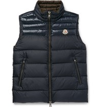 Moncler Dupres Quilted Shell Down Gilet Navy