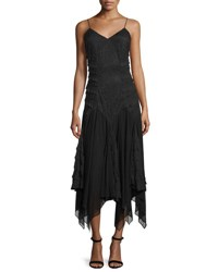 Haute Hippie Marty's Girlfriend Silk Handkerchief Dress Black
