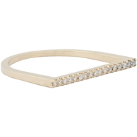 Grace Lee Diamond And Gold Horizontal Bar Ring