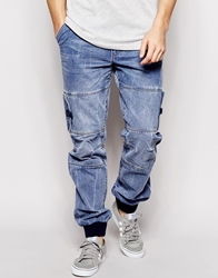 Voi Jeans Victor Straight Fit Coated Jean Blue