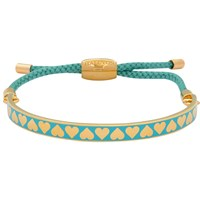 Halcyon Days Heart Friendship Bracelet Turquoise Gold