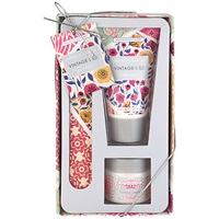 Heathcote And Ivory Vintage Fabric And Flowers Nail Care Set