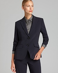 Basler Short Two Button Blazer Bloomingdale's Exclusive Marine