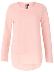 Izabel London Layered Top Textured Pink