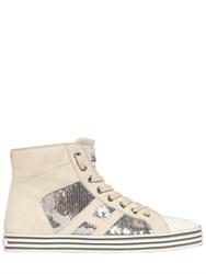 Hogan Rebel 20Mm Sequined Suede Sneakers
