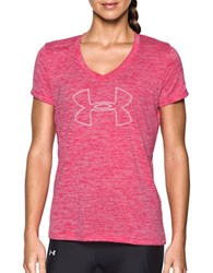 Under Armour Heathered V Neck Tee Pink