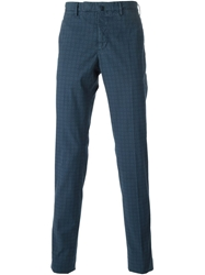 Incotex Patterned Chinos Blue