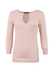 Morgan Cut Out Detail Glittery Sweater Beige