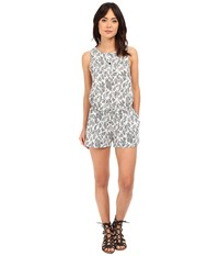 Brigitte Bailey Alessandria Woven Romper W Drawstring White Black Women's Jumpsuit And Rompers One Piece