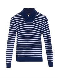 Polo Ralph Lauren Breton Striped Shawl Neck Sweater