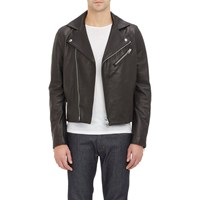 Leather And Suede Gibson Moto Jacket Black