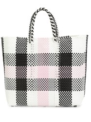 Truss Nyc Checked Tote Black