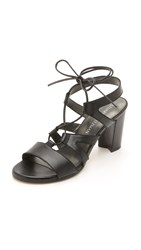Stuart Weitzman Tie Girl Bingo Sandals Black