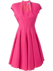 Thierry Mugler Vintage Fitted Flared Dress Pink And Purple