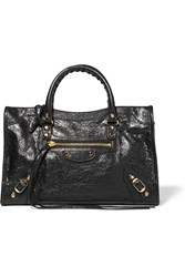 Balenciaga Classic City Textured Leather Tote Black