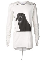 Lost And Found Rooms Dog Print T Shirt White
