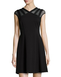 Catherine Catherine Malandrino Santino Peek A Boo Cocktail Dress Black