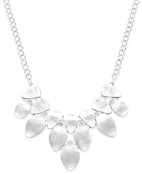 Inc International Concepts Bib Necklace Only At Macy's Silver