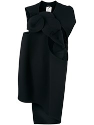 Comme Des Garcons Junya Watanabe Asymmetric Origami Dress Black