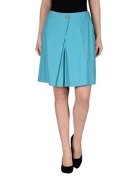 Agnona Knee Length Skirts Turquoise