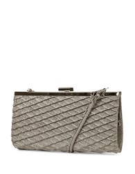 Jessica Mcclintock Laura Sparkle Frame Convertible Clutch Champagne
