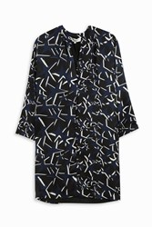 Paul And Joe Star Print Silk Tunic Blue