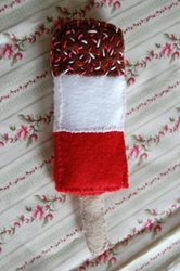 Fab Ice Lolly Recycled Felt Food Sculpture Fivegomad