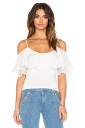 Ella Moss Bella Ruffle Top Cream
