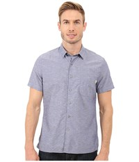 Timberland Allendale River Slim Fit Chambray Shirt Blue Print Yarn Dye Men's Clothing