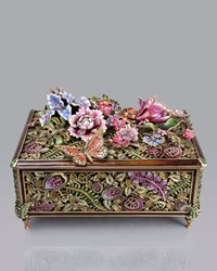 Grand Floral Chest Jay Strongwater