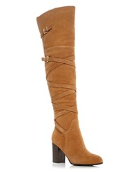 Sam Edelman Sable Over The Knee High Heel Boots Tan