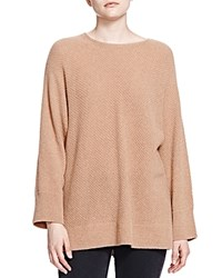 The Kooples Cashmere Boat Neck Sweater Camel