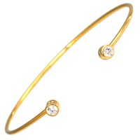 Hysteric Co. Double Bezel Bangle Bracelet Gold