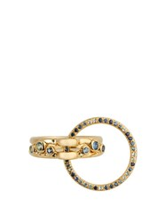 Charlotte Chesnais Three Lovers Sapphire Topaz And Yellow Gold Ring