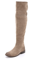 Frye Shirley Suede Over The Knee Boots Ash