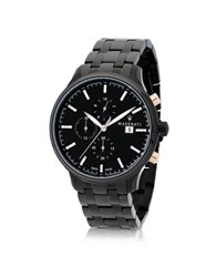 Maserati Attrazione Black Stainless Steel Men's Bracelet Chrono Watch