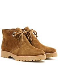 Burberry Verymer Suede Ankle Boots Brown