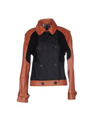 Manila Grace Coats And Jackets Jackets Women Brown