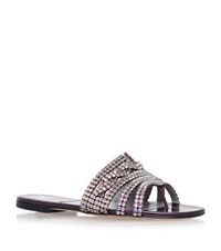 Gina Loren Jewelled Sandals Female Purple
