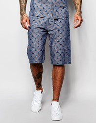 Vivienne Westwood Anglomania Shorts In All Over Print Blue