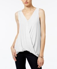 Bar Iii Draped Faux Wrap Top Only At Macy's Vintage Cream