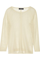 Magaschoni Open Knit Cashmere Sweater Brown