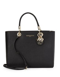 Karl Lagerfeld Miranda Leather Satchel Black