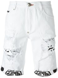 Philipp Plein 'Savage' Shorts White