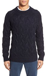 Bonobos Men's Cable Knit Crewneck Sweater Stormcoat