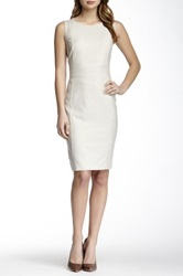 Hugo Boss Solid Wool Blend Dress Beige