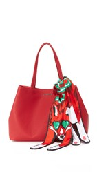 Moschino Love Tote Red